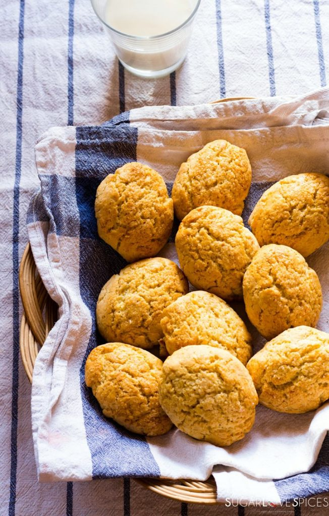 Milk Cookies (biscottoni)-cookies in basket