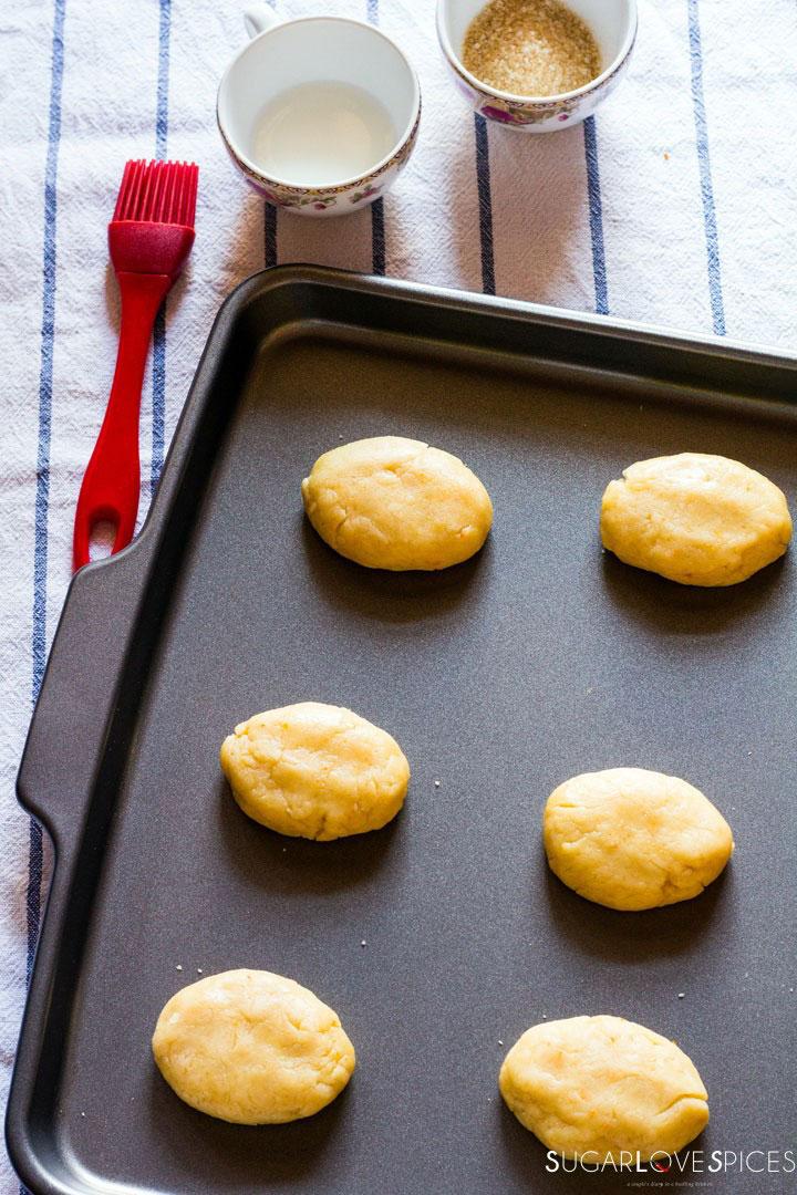 Milk Cookies (biscottoni)-cookies in the pan