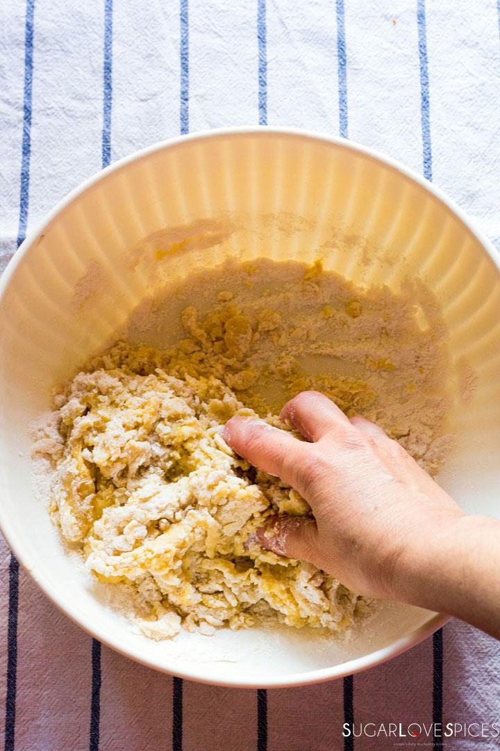 Milk Cookies (biscottoni)-making dough