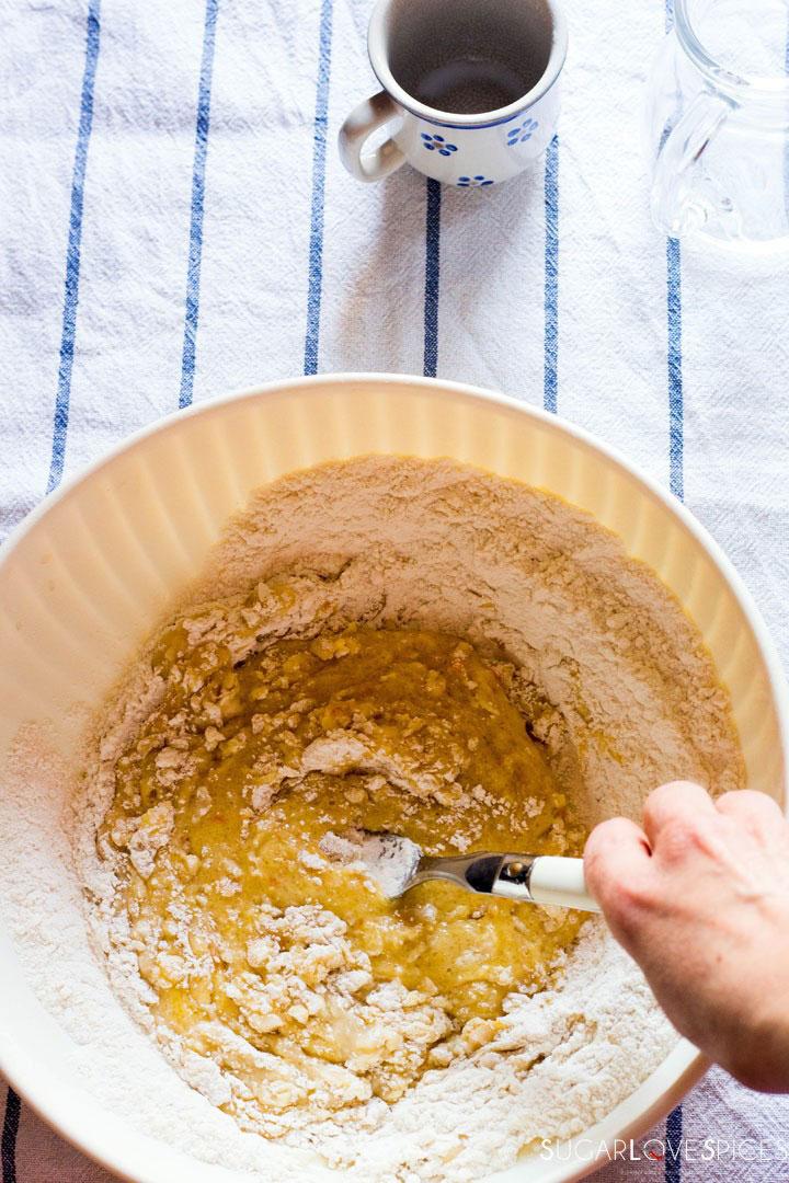 Milk Cookies (biscottoni)-mixing flour