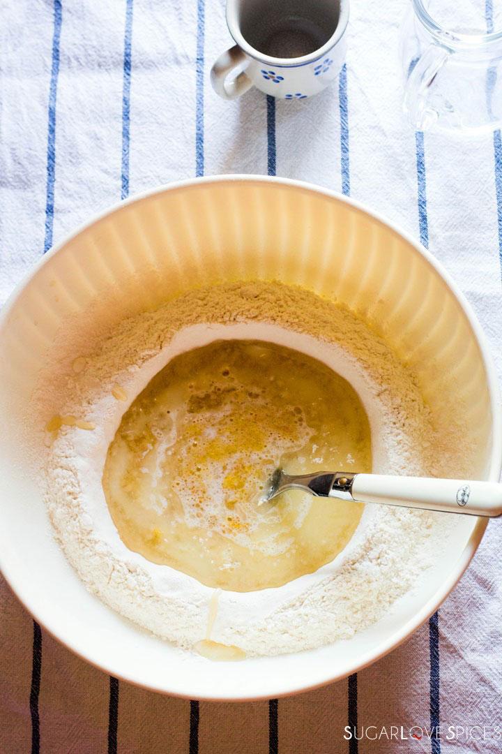 Milk Cookies (biscottoni)-mixing milk and oil