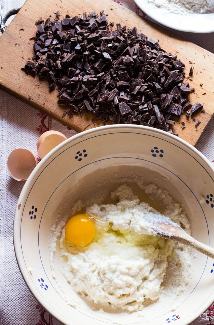 ricotta chocolate cake-egg1