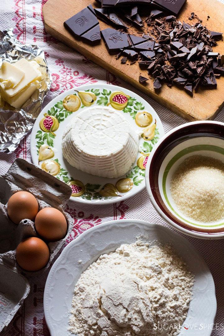 ricotta chocolate cake-ingred