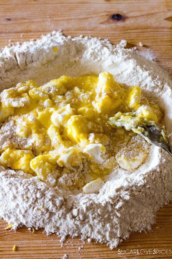Crostata (Jam Tart)-mixing ingredients
