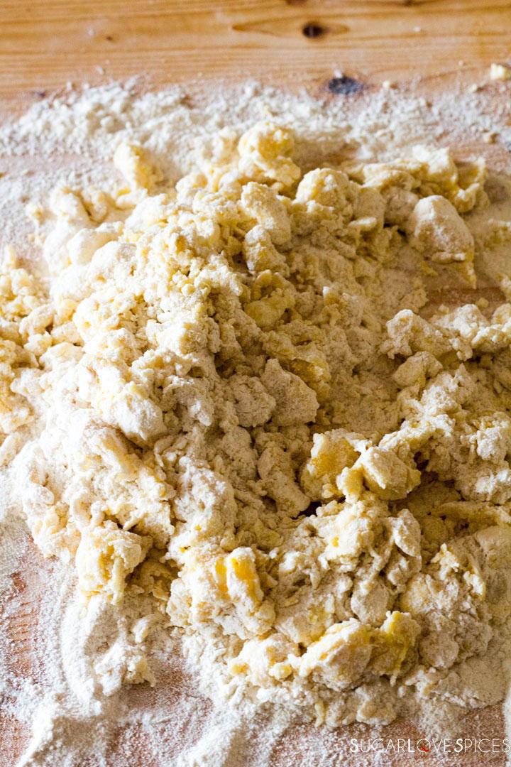 Crostata (Jam Tart)-raggedy dough