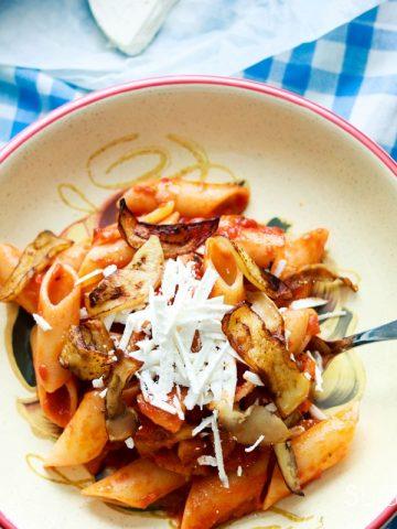 Pasta alla Norma-feature one bowl of pasta