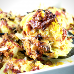Oven Roasted Cheesy Cabbage