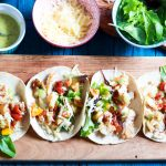 Scrumptious Grilled Fish Taco Tuesday-feature-on a board