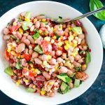 Mediterranean Bean and Corn Salad-feature-in the bowl