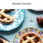 crostatine alla nutella in different plates, one cut