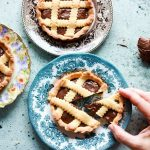 crostatine alla nutella-in the plates one cut hand on-landscape
