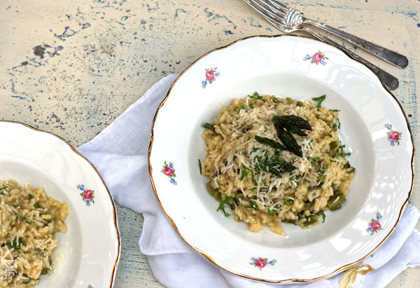 Grilled Asparagus Risotto - SugarLoveSpices