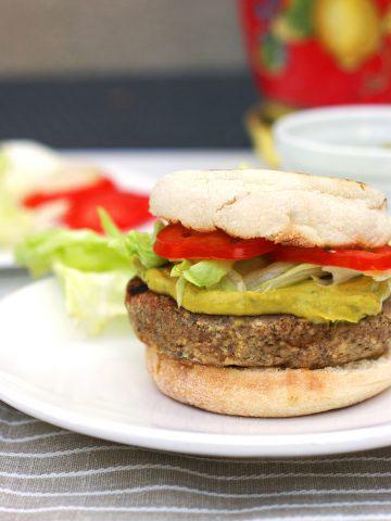 marvelous mushroom veggie burger