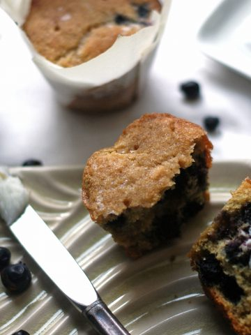 blueberries-saskatoon-lime-cornmeal-muffins