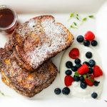 Nutella Banana Stuffed French Toast-feature on the plate