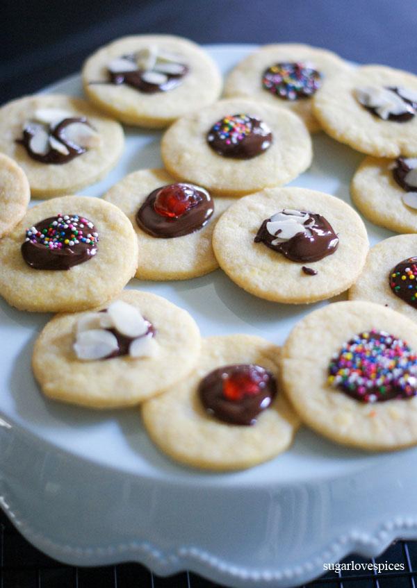 cute as a button Shortbread Cookies