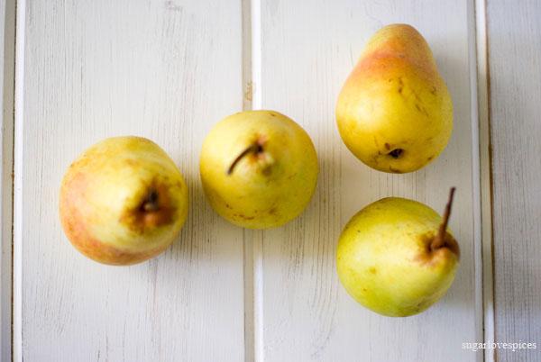 Roasted Pears and Cinnamon Chocolate Scones