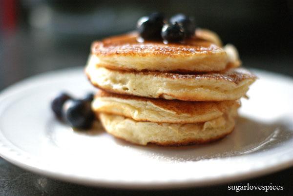 Lemon ricotta mini pancakes