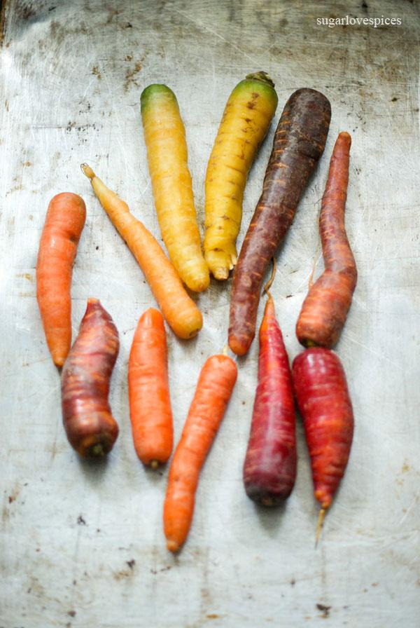 Maple Mustard Roasted Rainbow Carrots
