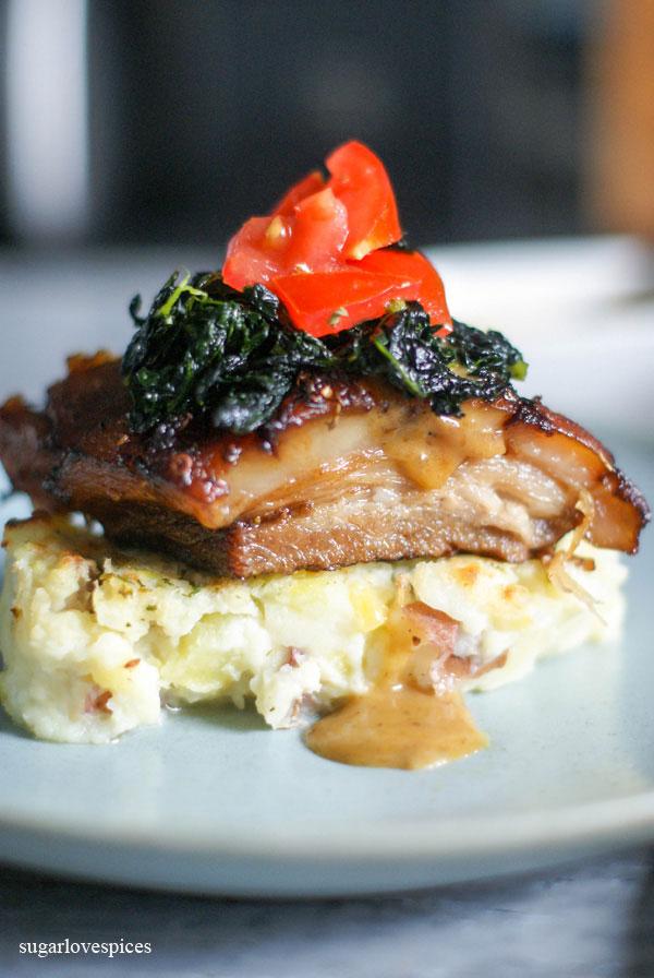 slow braised pork belly