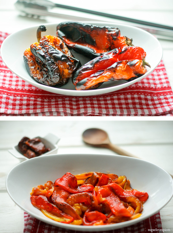 Farfalle-with-roasted-red-peppers-and-sun-dried-tomatoes-cream-sauce-prep