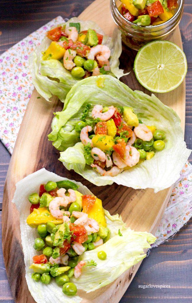 Shrimp Sweet Pea Salad Boats