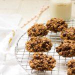 Banana choclate chip oat cookies