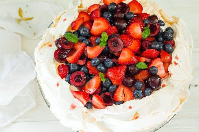 Summer Berry Pavlova