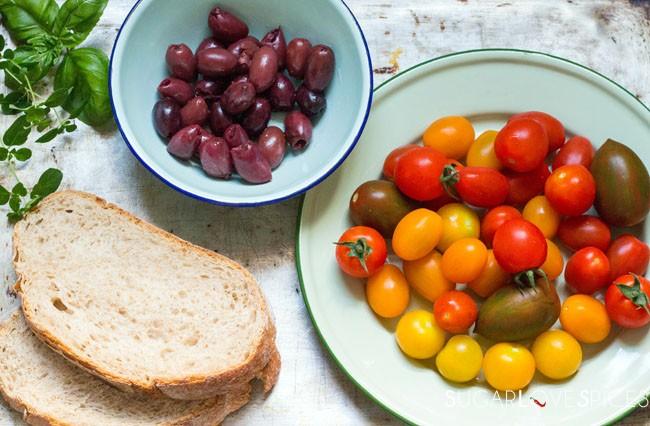 Roasted Tomato and Olive Panzanella