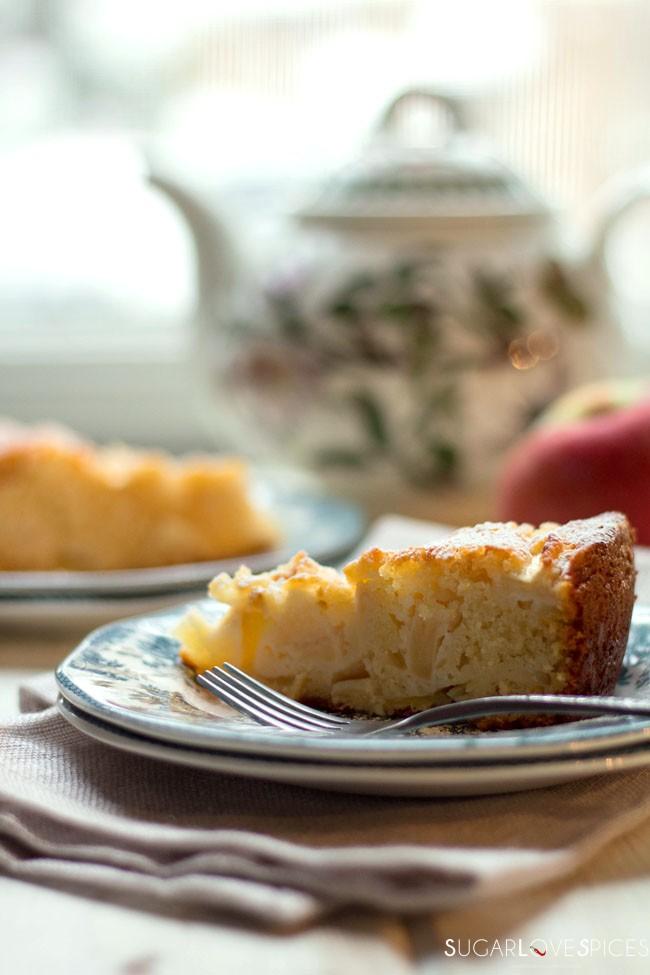 Torta di mele (Apple Cake) with Yogurt and Almonds