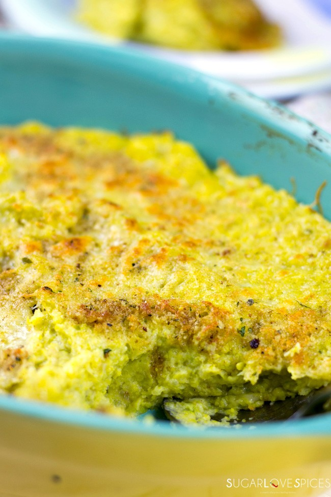 Brussels Sprout Potato Baked Mash