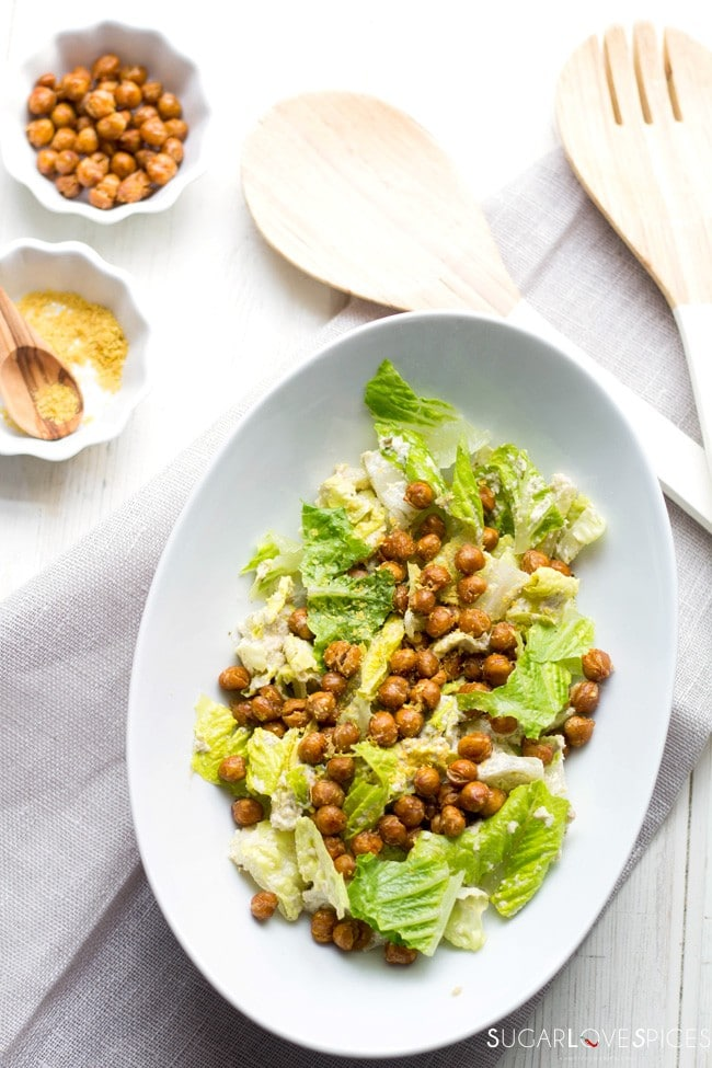 Roasted Chickpea Caesar Salad , vegan and gluten-free, yet so close in ...