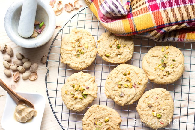 Tahini Almond Cookies - SugarLoveSpices