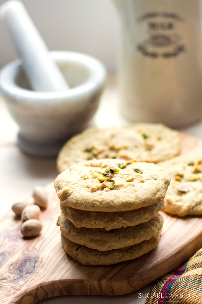 Tahini Almond Cookies - SugarLoveSpices