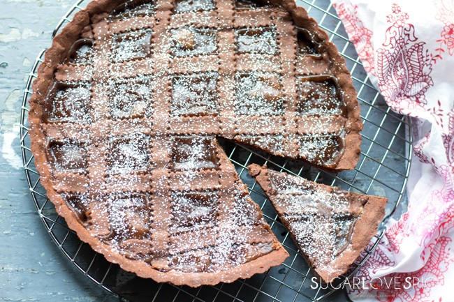 Chocolate Crostata with Chestnut Jam