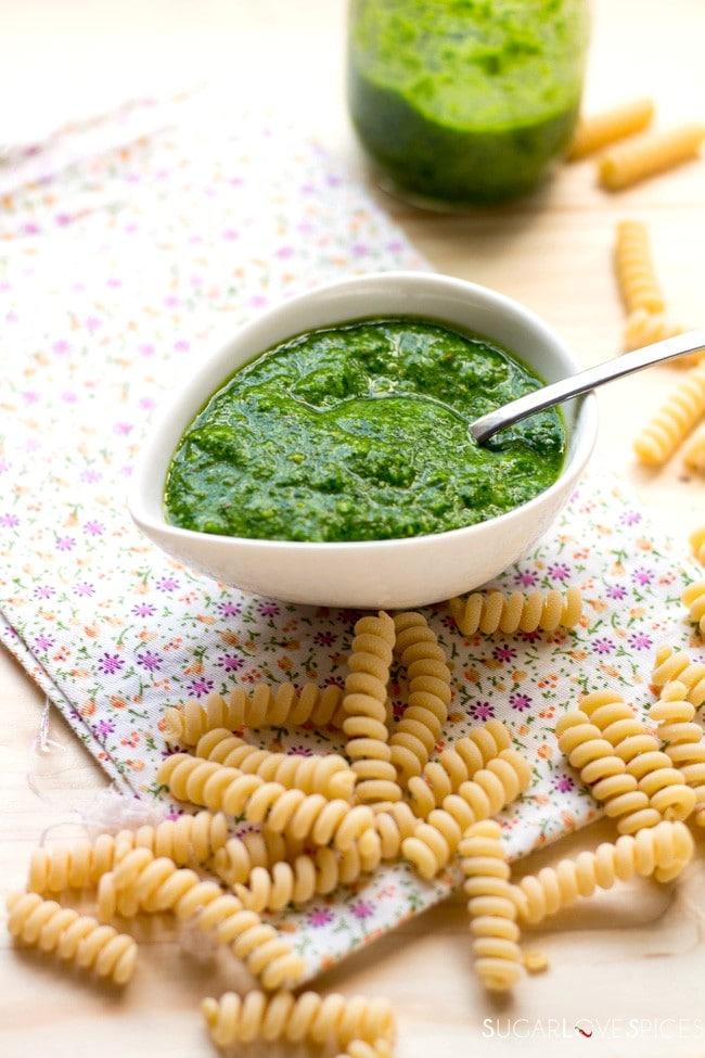Baby Arugula Pistachio Pesto Sauce