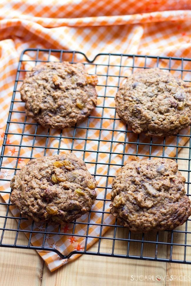 Raisin Chocolate Oat Cookies