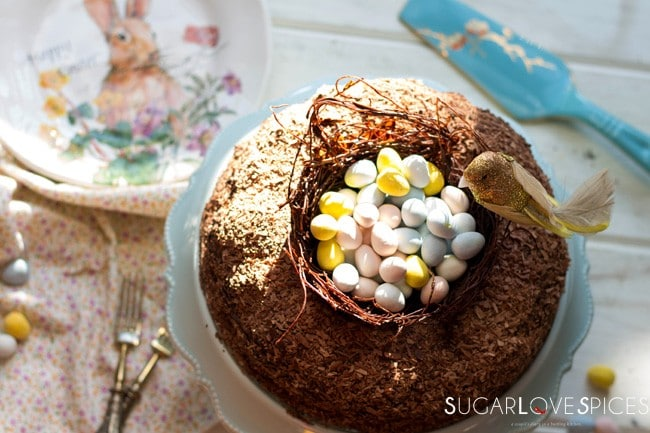 Triple Chocolate Easter Egg Nest Cake G F Dairy Free
