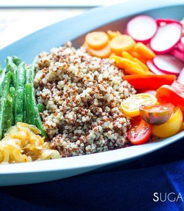 quinoa spring market salad
