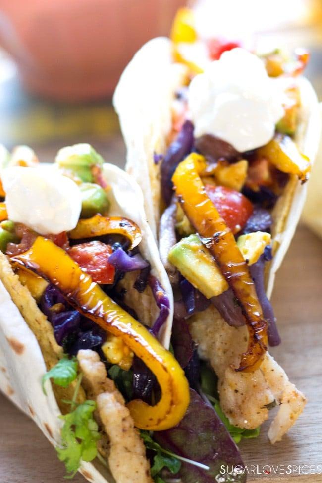 Crispy Haddock Double Shelled Tacos