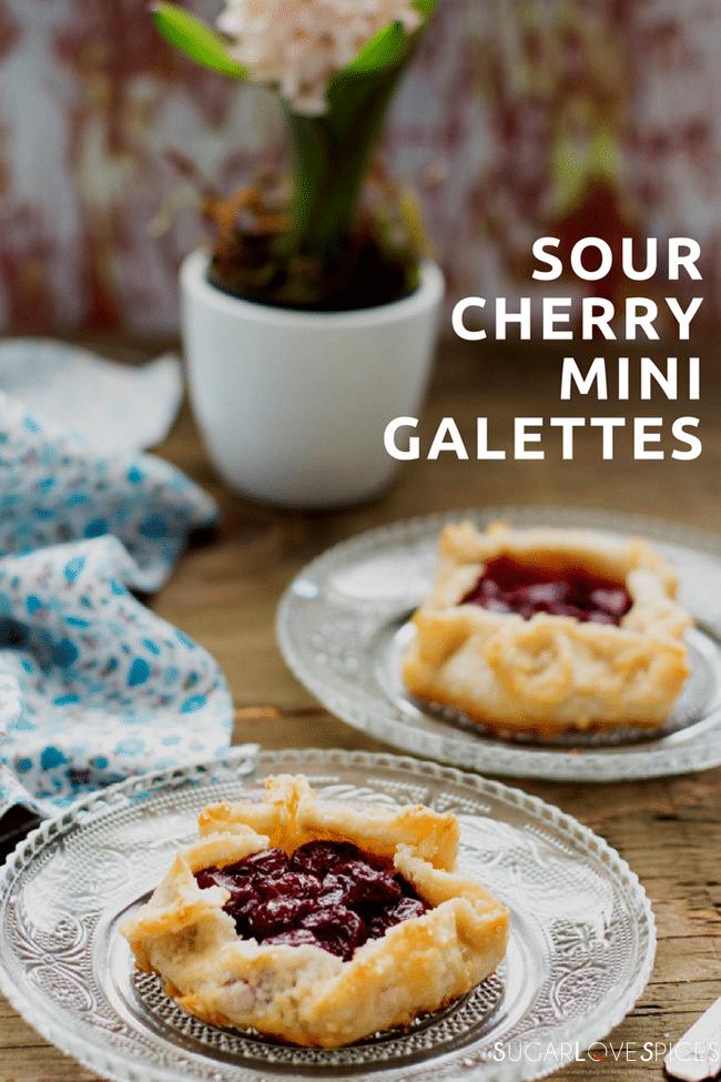 sour cherry mini galettes