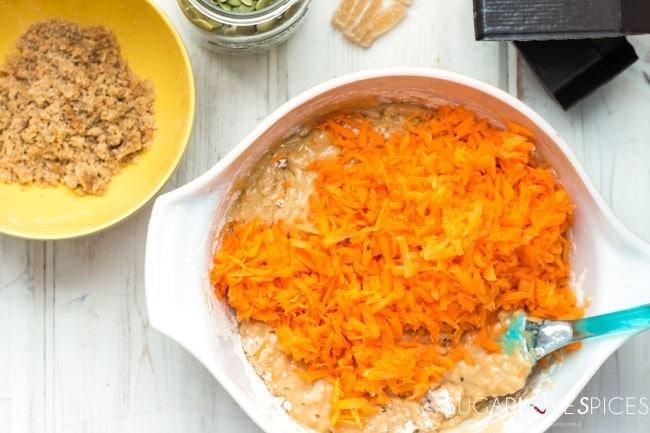 Spiced carrot cake mini loaves
