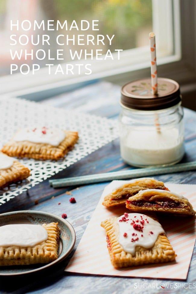 homemade sour cherry whole wheat pop tarts