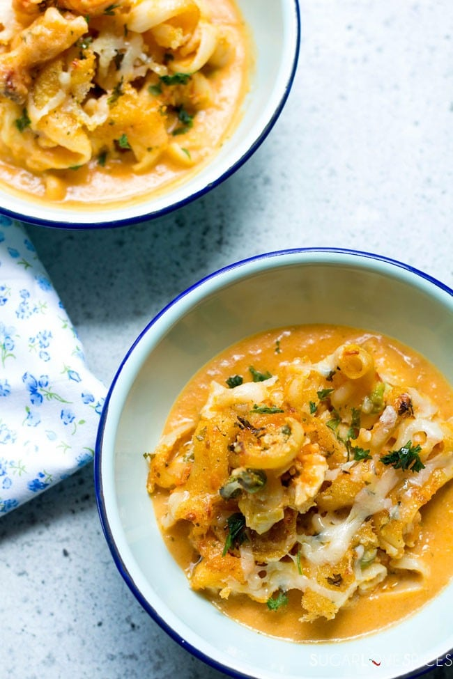 Lobster bisque mac&cheese
