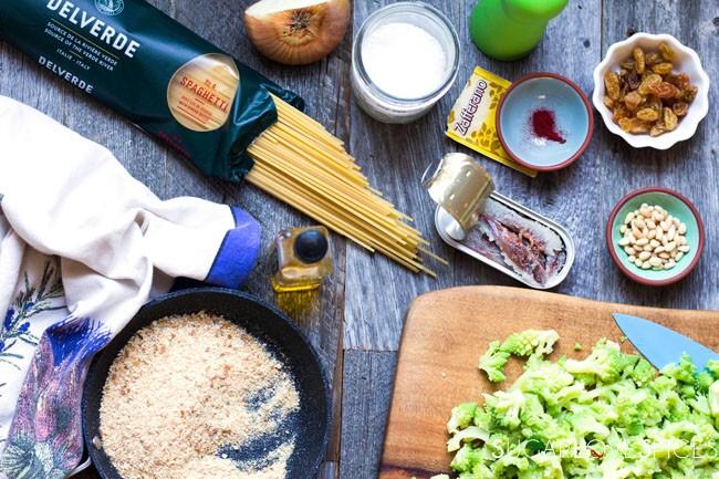 Spaghetti with Broccoli Sicilian-style
