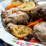 Pollo al Limone (Lemon Chicken with Olives and peppers)
