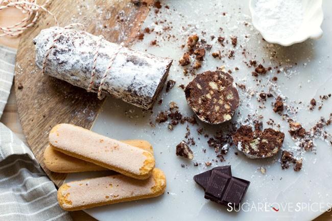 Salame al Cioccolato (Christmas Chocolate Salame)