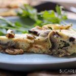 Mushromm Frittata with Truffle cheese-closeup