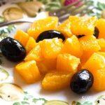 Insalata di Arance e Olive Nere-closeup