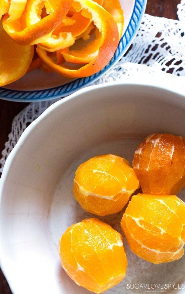 Insalata di Arance e Olive Nere-preparation